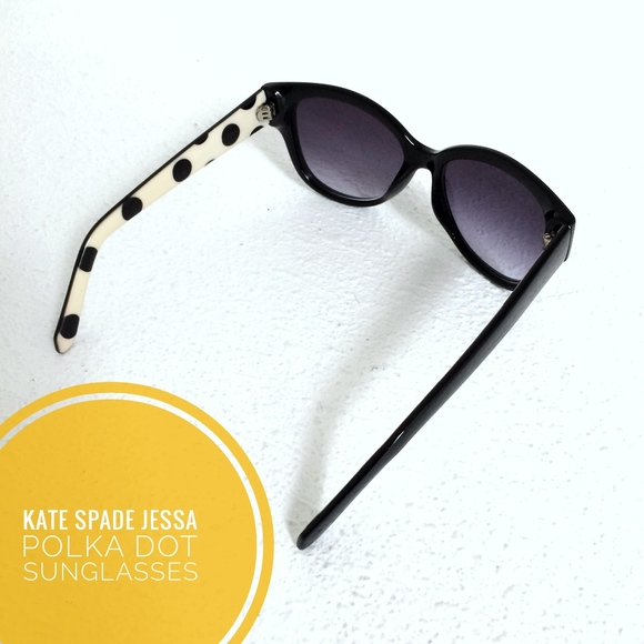 ecda96b3388b Kate Spade Accessories | Black Polka Dot Jessa Sunglasses | Poshmark